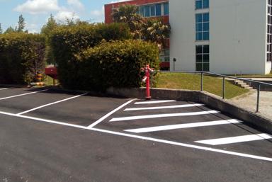 Marcação de Parque de Estacionamento EFACEC